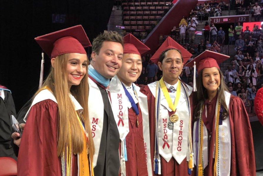 Jimmy Fallon Makes Surprise Speech At Parkland's Marjory Stoneman Douglas High School Graduation