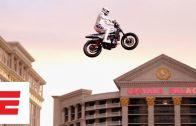 Travis Pastrana Lands Evel Knievel's Iconic Caesar's Palace Fountain Jump