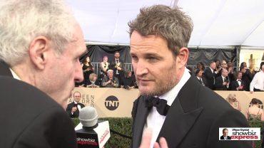 'Mudbound' Star Jason Clarke on The Red Carpet with 'Showbiz Express'