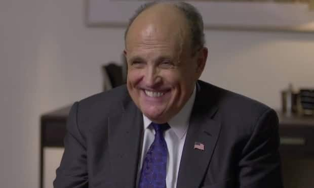 Rudy Giuliani Faces Questions After Compromising Scene in New Borat Film