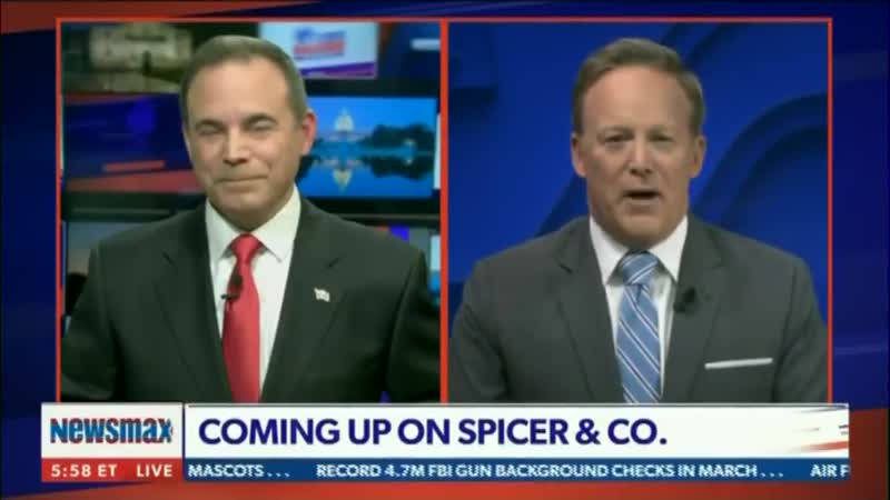 Newsmax Amateur Hour: Host Chris Salcedo Has Entire Conversation With Sean Spicer on Mute