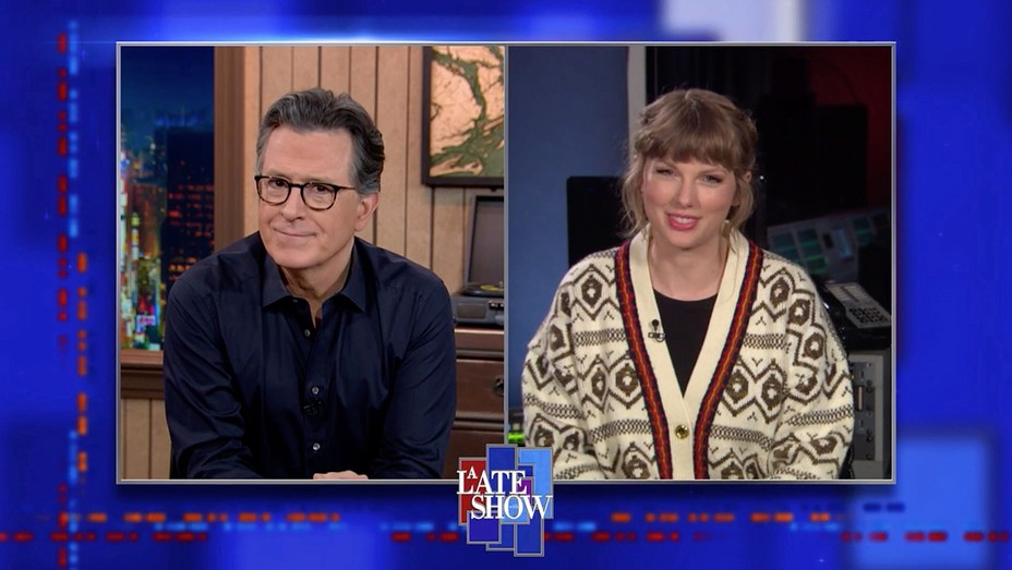"""Stephen Colbert Presses Taylor Swift to Reveal Who """"Hey Stephen"""" Is About"""