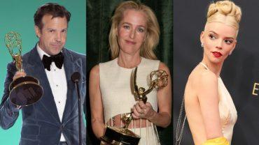 Jason-Sudeikis-Gillian-Anderson-Anya-Taylor-Joy-at-the-Emmy-Awards-H-Split-2021